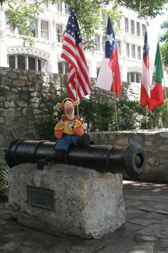 This cannon was lost in the Rio Grande back in 1842 but stright out of it now sits in the Cavalry CourtYard of in There are many things to see here in the that allow visitors to touch history and see it in action through reenactments. Rio Grande, Cannon, San Antonio, Tigger, Texas, United States, Lost, Touch, History