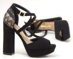 sandália - salto alto - renda - party shoes - Inverno 2016 - Ref.16-3701
