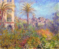 """Villas at Bordighera 03"" by Claude Monet, 1884 ・ Series: Villas at Bordighera ・ Style: Impressionism ・ Genre: cityscape"