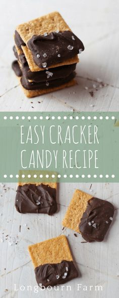 This easy cracker candy recipe is the perfect party snack, game day snack, or after lunch snack. Sweet and salty with 3 ingredients and just 5 minutes. Recipes Appetizers And Snacks, Yummy Appetizers, Candy Recipes, Easy Desserts, Delicious Desserts, Snack Recipes, Dessert Recipes, Yummy Food, Top Recipes