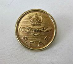 WWII Era RCAF Button Vintage 30's 1940's by PopcornVintageByTann on SALE $12.00