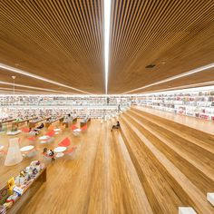 "Studio MK27's ""bookstore of the 21st century"" was designed as a social meeting place"