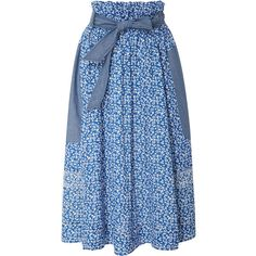 Ulla Johnson Mina Paper Bag Skirt (735.100 COP) ❤ liked on Polyvore featuring skirts, floral print skirt, paper bag skirt, floral print a-line skirt, knee length a line skirt and ruched skirt