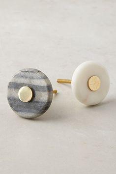 Brass & Marble Knob