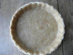 Healthier Whole Wheat Pie Crust!  143 calories a slice, 3g Fiber, 3g Protein!