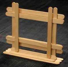 frame for the Tiger Cubs to make at the District CamporeePicture frame for the Tiger Cubs to make at the District Camporee Popsicle Stick Crafts For Adults, Popsicle Sticks, Craft Stick Crafts, Diy And Crafts, Ice Cream Stick Craft, Best Camping Meals, Stick Photo, Trailer Decor, Diy Photo