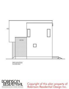 Contemporary Sauder-896 - Robinson Plans Duplex House Plans, Luxury House Plans, Modern House Plans, Small House Plans, House Construction Plan, Sink In Island, Plans Architecture, Simple House Design, Design Case