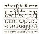 Schreibschrift – Wikipedia   Lateinisches Alphabet von Sütterlin mit Schnurzug ab 1924