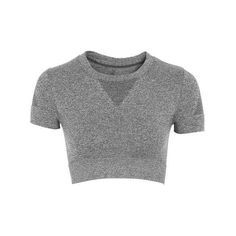 Seamless Crop Crew Tee by Ivy Park ($3.22) ❤ liked on Polyvore featuring tops, t-shirts, crop tops, ivy park, crop t shirt, seamless top, crew-neck tee, crop tee and crew-neck tops