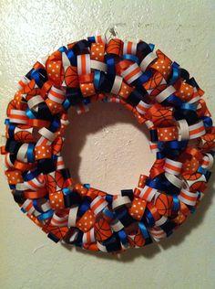 Illini wreath for basketball season $22.00, via Etsy.
