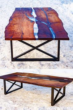 "LOVE THE WOOD. LOVE THE UNDERNEATH.The large dining table made of solid wood and epoxy resin. Tables made of slabs of wood Karpinus with a very nice texture and a natural, ""live"" edge. Beautiful dining table for your home. Made in Russia. Diy Resin River Table, Resin And Wood Diy, Epoxy Resin Table, Wood Resin, Live Edge Furniture, Resin Furniture, Woodworking Patterns, Woodworking Plans, Slab Table"