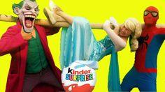Công Chúa Elsa Đẻ Trứng Khổng Lồ Spiderman và Joker Pranks Người Nhện Su...