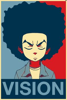 """Huey Freeman Only Speaks The Truth / The Boondocks — """"Vision? What do you know about my vision? Dope Cartoons, Dope Cartoon Art, Black Cartoon, Black Girl Art, Black Art, Riley Boondocks, Boondocks Quotes, Boondocks Drawings, Sketch Manga"""