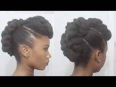 Twisted Mohawk Updo on Natural Hair Mohawk Updo, Mohawk Hairstyles, Formal Hairstyles, Wedding Hairstyles, Cool Hairstyles For Girls, Black Women Hairstyles, Natural Hair Updo, Natural Hair Styles, Work Updo