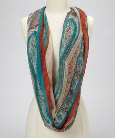 Take a look at this Natural Paisley Scarf by David & Young on #zulily today! $7.99