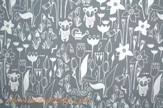 Funny Fabrics - HIPPU GARDEN GRAY ORGANIC COTTON JERSEY KNIT, $15.75 (http://www.funnyfabrics.com/hippu-garden-gray-organic-cotton-jersey-knit/)