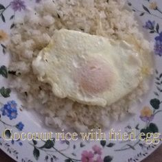 Lunch or dinner. Puerto Rican Recipes, Coconut Rice, Oatmeal, Spanish, Lunch, Homemade, Dinner, Breakfast, Food