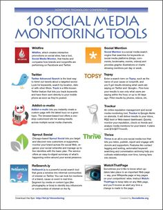 10 social media monitoring tools