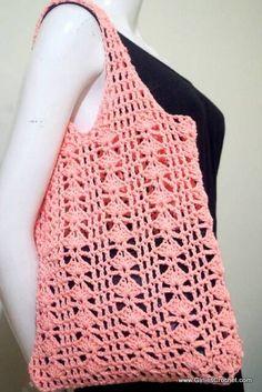 free crochet pattern ; Eunice Summer Bag