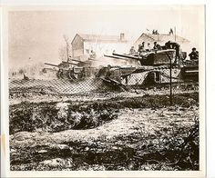 British 8th Army Tanks In Italy    8th Army advance to Gothic Line.    The town of Mondaino, situated in the center of Italy south of the Gothic Line, has fallen to British forces which are now battling at Dicomano.