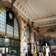 São Bento trainstation  #Porto #portugal #sãobento #trainstation