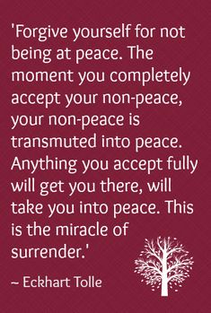 ♥Surrender♥ to all ♡ Eckhart Tolle . I am at peace . Eckhart Tolle, Frases Yoga, Affirmations, Encouragement, Forgiving Yourself, Note To Self, Inner Peace, Be At Peace, Mantra