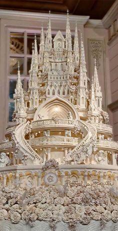 Over the top but amazing Wedding cake http://weddinghairandmakeupartists.com/