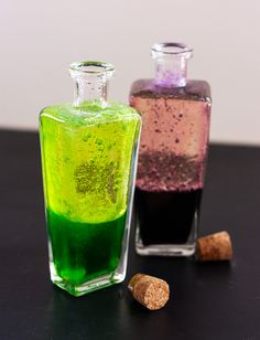 DIY: Magic Potion Bottles #halloween #witch #lavalamp