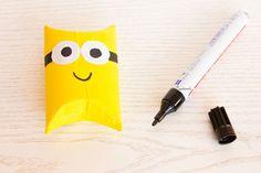 Minion  Geschenkverpackung aus Klorollen