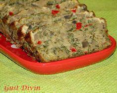 .: Drob de ciuperci Appetizer Sandwiches, Appetizers, Romanian Food, Romanian Recipes, Bread Rolls, Meatloaf, Vegan Vegetarian, Banana Bread, Stuffed Mushrooms