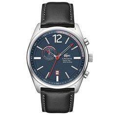 Lacoste Austin Chronograph Leather  Black Mens watch 2010729 *** You can get additional details at the image link. (This is an Amazon affiliate link)