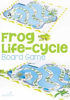 If you are doing a frog life-cycle with your class, this is a fun board game that would go great with any frog life-cycle unit! This frog life-cycle board game is a great way to introduce kids to the stages of the frog life cycle. It is picture based so it is great for all ages. #frogtheme #boardgames #froglifecycle #kindergarten science #preschool Science Activities For Kids, Sorting Activities, Kindergarten Science, Preschool Activities, Exercise Activities, Map Activities, Articulation Activities, Therapy Activities, Educational Activities