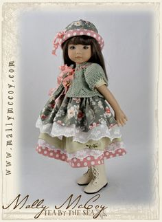 Dianna Effner Little Darling doll wearing May Flowers Outfit by Molly McCoy
