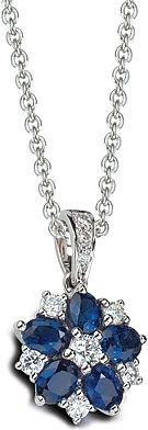 18K White Gold Sapphire and Diamond Necklace See more stunning jewelry at http://RadiantRings.net! #jewelry