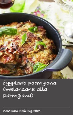 "Eggplant parmigiana (melanzane alla parmigiana) | It is one of Italy's most famous dishes, yet its origins remain in dispute. The name of this cheesy eggplant bake infers that it is cooked ""Parma-style"" and therefore hails from the Emilia-Romagna region in the north. ""Alla parmigiana"" also refers to Parma's most famous cheese, parmesan, which is frequently included. However, the recipe is just as often dubbed a southern creation due to its abundant use of eggplant."