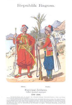 band IX #46.- Ragusa, Republik. Municipal-Soldaten 1780-1806. Offizier. Pandur.