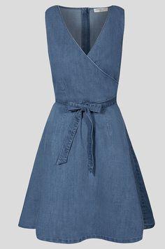 Orsay - Kopertowa sukienka z jeansu - Niebieski