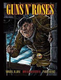 Pop Posters, Concert Posters, Music Posters, Guns N Roses, Rock N Roll, October Art, Rock Band Posters, Post Rock, Ad Art