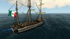 """Congreso Mexicano"", Navío de linea mexicano de 74 cañones Mexican Army, Sailing Ships, War, Submarines, Boats, Ship Of The Line, Past Tense, Mexican, Voyage"