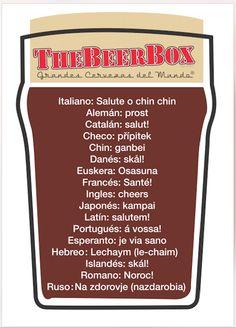 ¡Este #Juebebes aprende a brindar en diferentes idiomas! Te esperamos en nuestras Tabernas y Boutiques