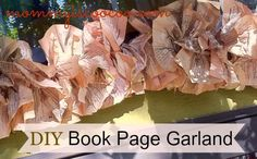 How to Make Book Page Garland - Mommy Is Coo Coo