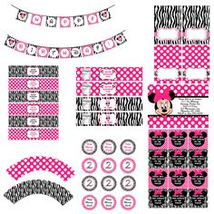 Minnie Mouse Zebra Party Pack