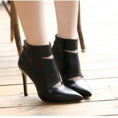 #Black #CutOut #HighHeel #AnkleBoots #AW15 £34.99 @ ShanghaiTrends.co.uk  /  http://shanghaitrends.co.uk/black-cut-out-high-heel-ankle-boots
