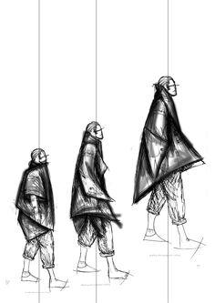 Fashion Sketchbook - fashion sketches; creative process; fashion student portfolio // Posy Amor