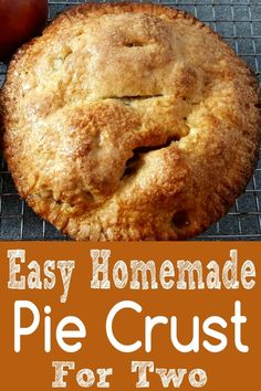 Best Homemade Pie Crust Recipe Single or Double Recipe for Two This recipe for the Best Homemade Pie Crust makes a flavorful, flaky pie crust that's easy to make and bakes up golden brown and beautiful. Make a single or double 6 inch pie crust. Single Serve Desserts, Single Serving Recipes, Small Desserts, Köstliche Desserts, Great Desserts, Delicious Desserts, Dessert Recipes, Breakfast Recipes, Plated Desserts