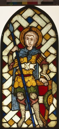 St Maurice in front of a braided background, stained glass, c. Germanisches Nationalmuseum accession no. Medieval Stained Glass, Stained Glass Angel, Stained Glass Paint, Stained Glass Windows, Sea Glass Art, Glass Wall Art, Glass Vase, Wine Bottle Wall, Glass Art Pictures