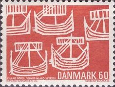 Viking Ships (from old Swedish coin)