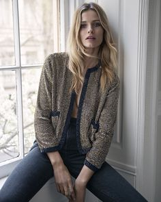 Express Edition Gold Sequined and Beaded Jacket and Black High Rise Ankle Jean Legging fall-winter 2016 lookbook