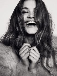 Smile & Laugh, Smile, Laugh, Portrait, Black & White, Photography, Girl, :-)