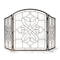 Isla Glass Fireplace Screen STAINED GLASS  FirePlace Screens Windows Lighting Lamps Light